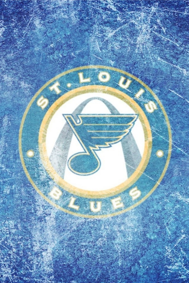 St Louis Blues logo   Download iPhoneiPod TouchAndroid Wallpapers 640x960