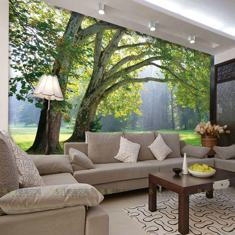 3D photo wallpaper Nature Park tree murals bedroom living room 750x750
