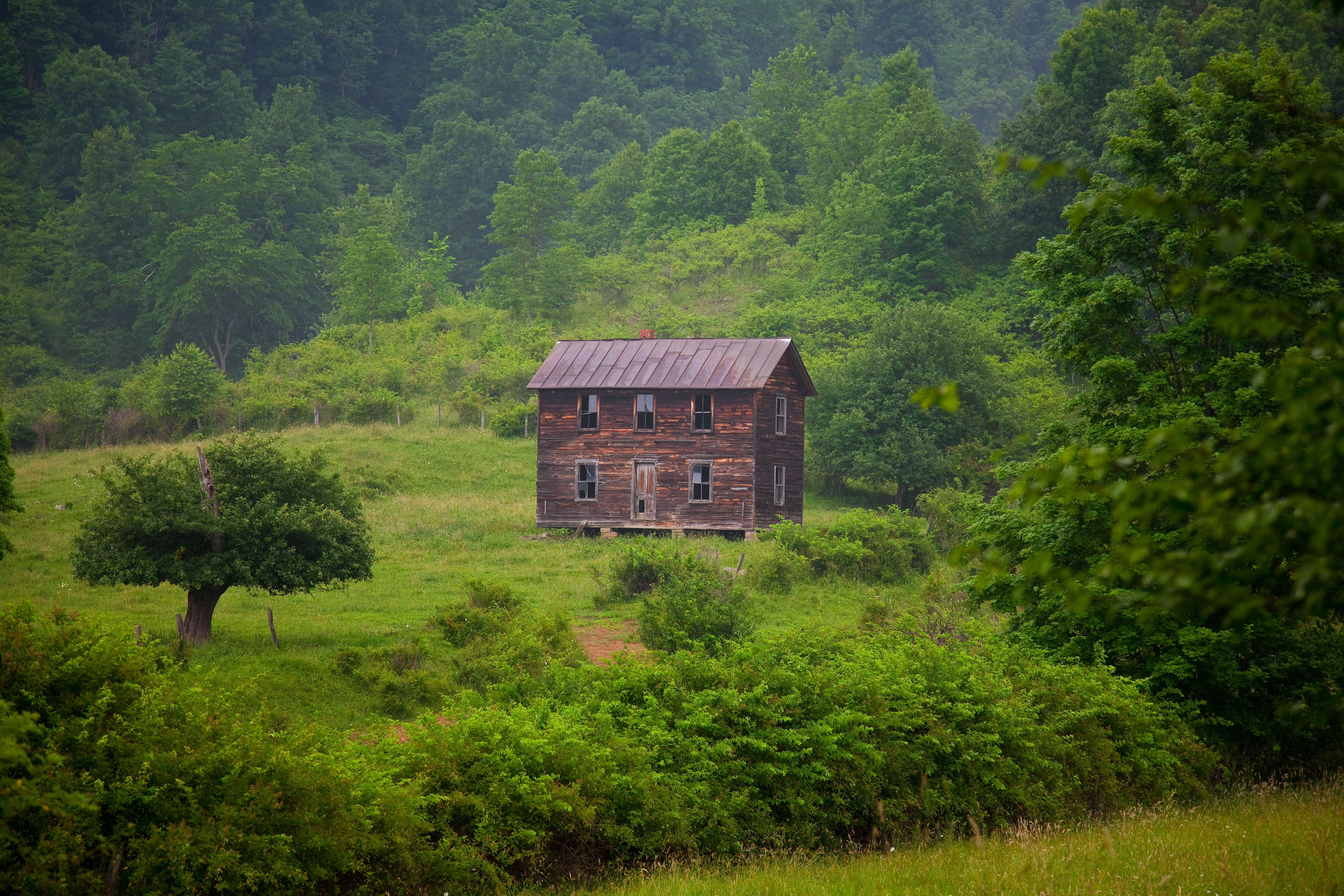 Old Fashioned Summer Farm House Structures Nature Pictures by 5616x3744
