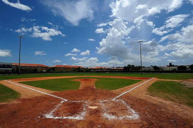 Miami Baseball Field Wallpaper Wall Mural   Self Adhesive   Multiple 640x426