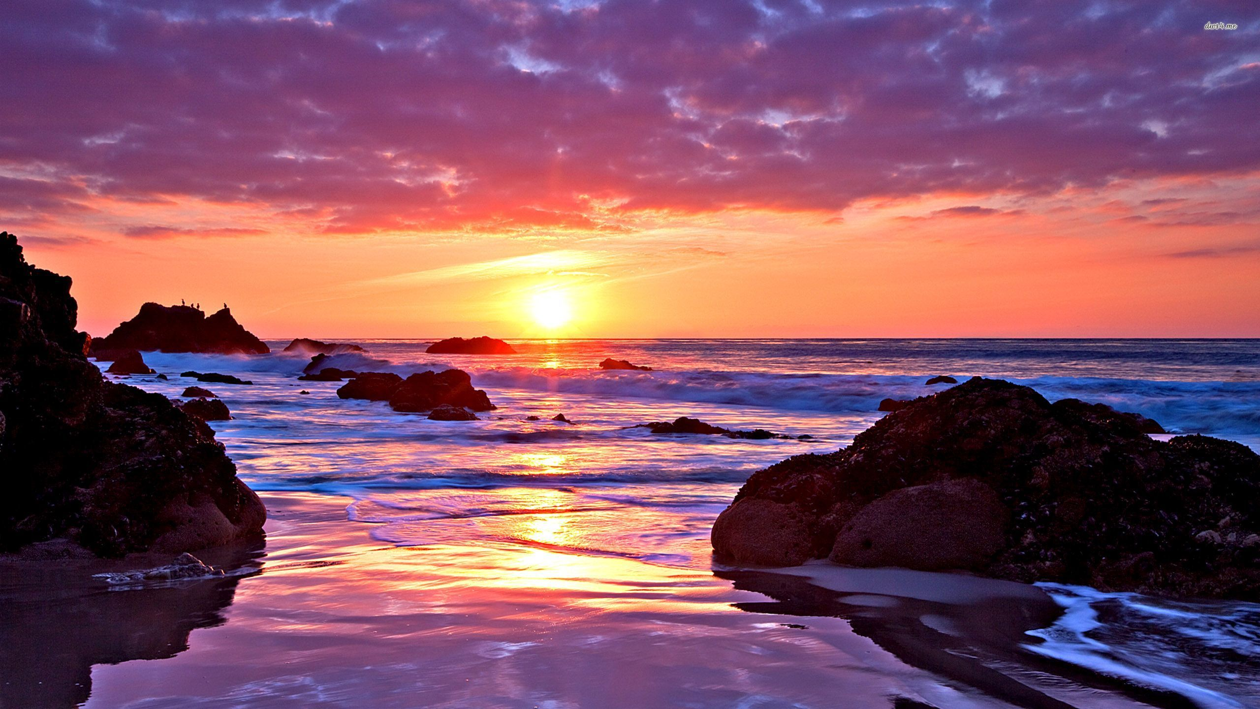 Ocean sunset wallpaper wallpapersafari - Ocean pictures for desktop background ...