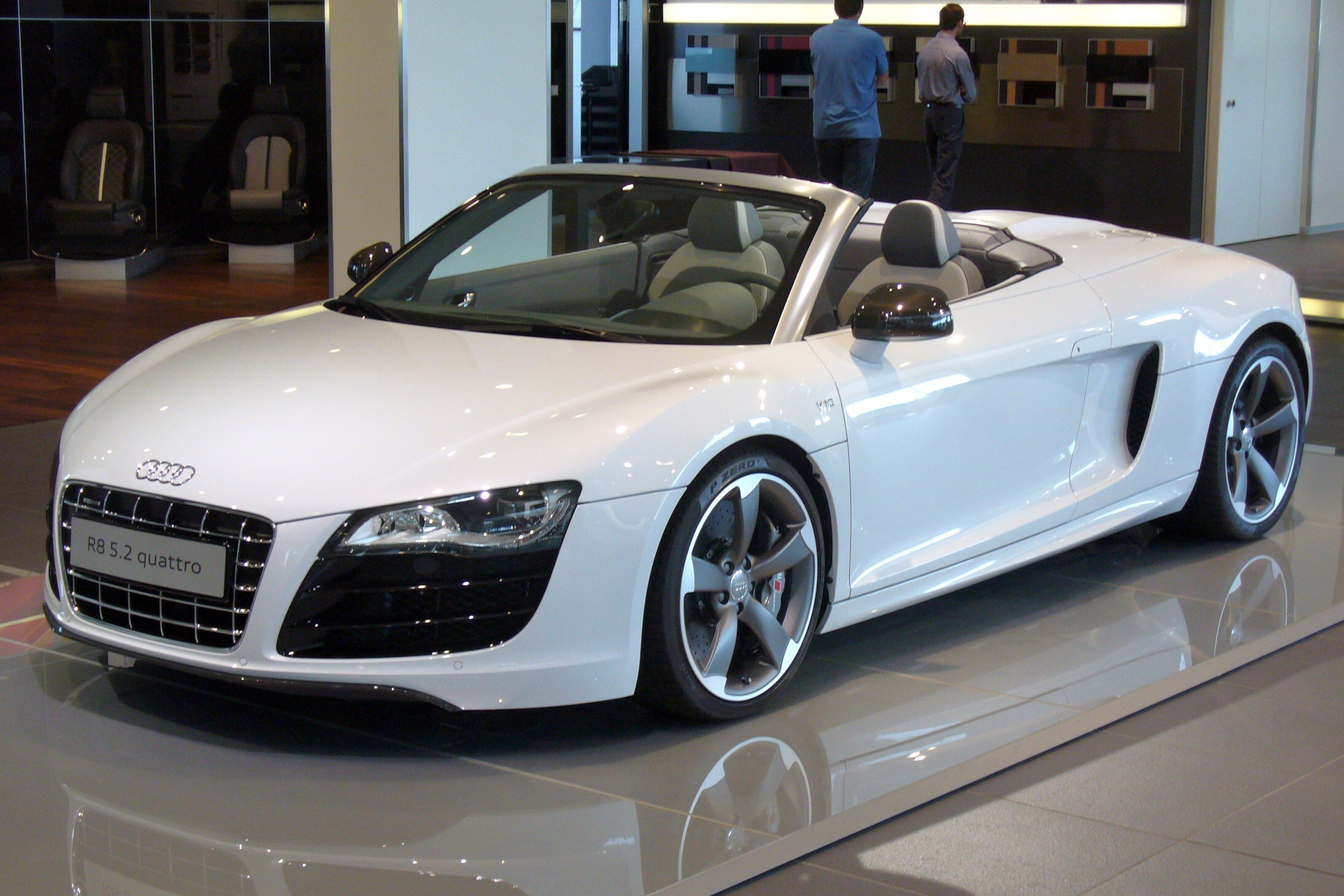 Ultracollect Audi R8 Spyder Wallpaper White Images   Premium Cars 2732x1821