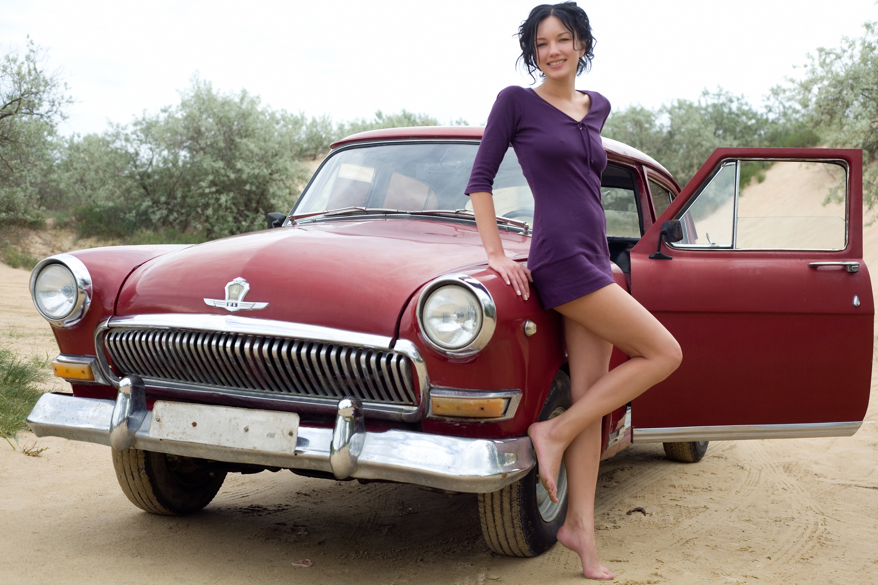 Photo Collection Musle Cars Girls Wallpaper