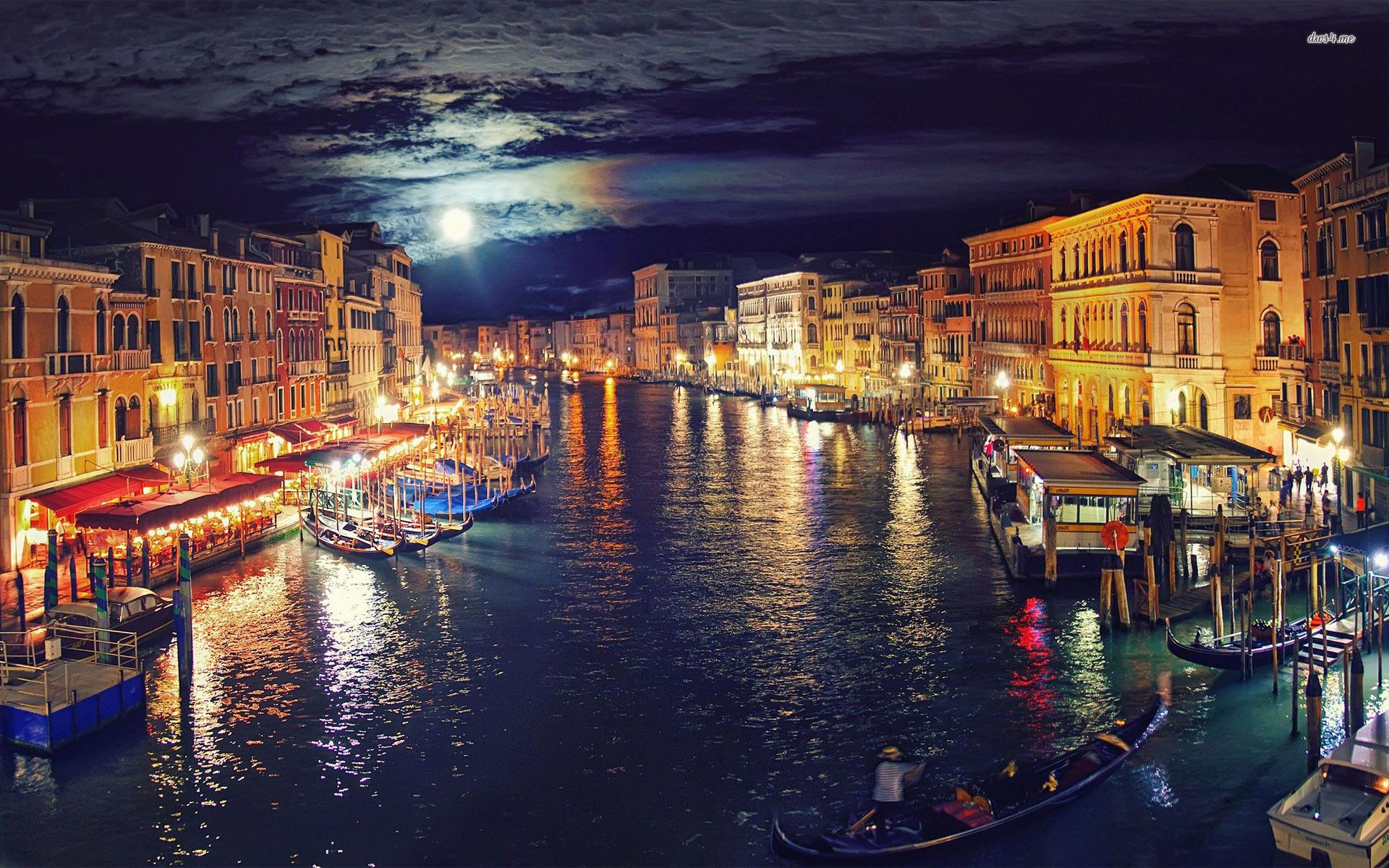 Venice at night wallpaper Gallery 1920x1200