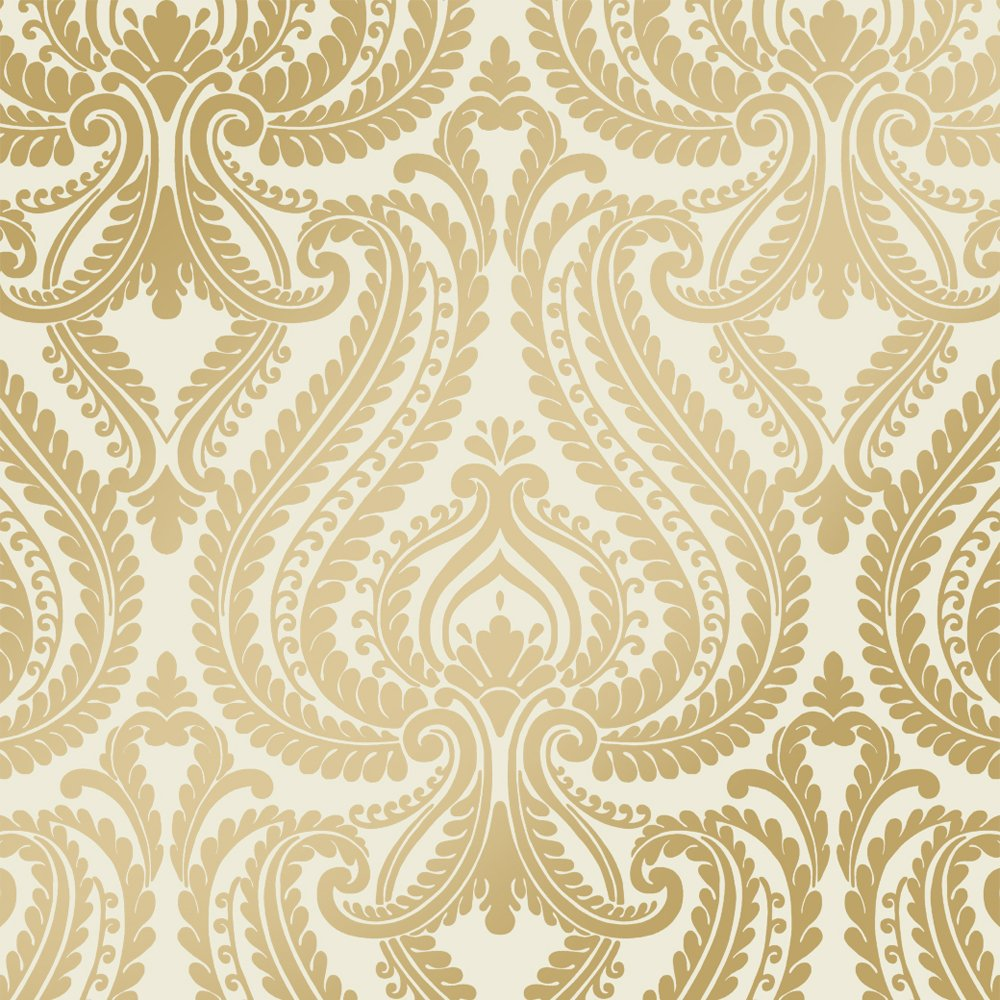 Metallic Gold And White Wallpaper