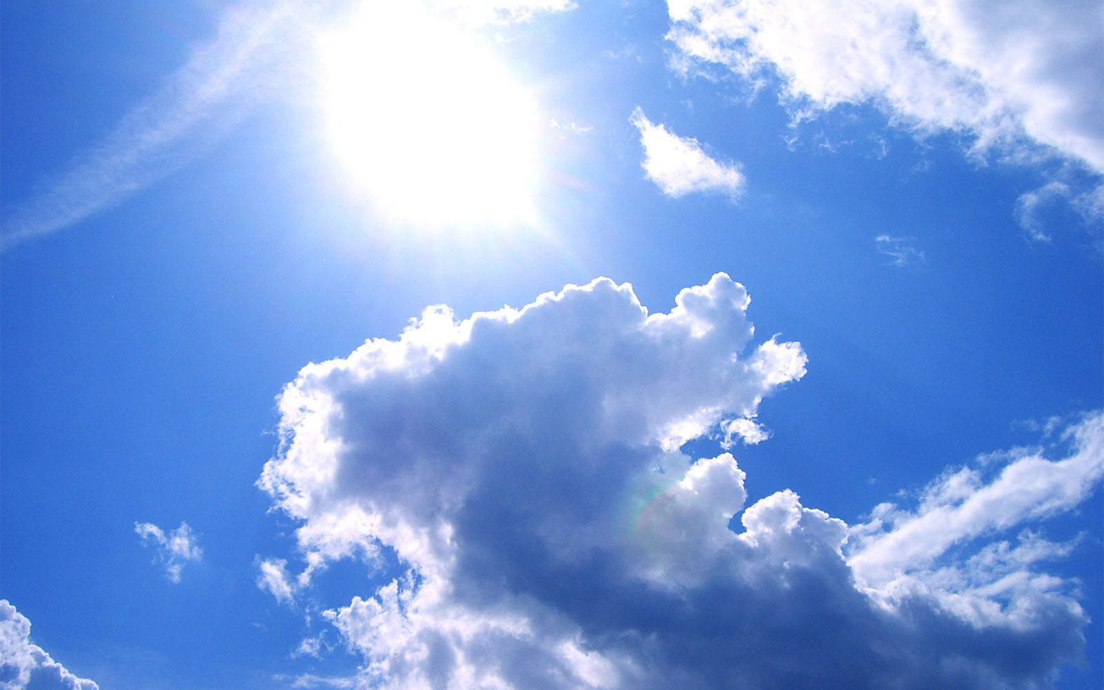 Wallpapers Sun And Clouds Desktop Backgrounds Sun And Clouds Photos 1600x1000