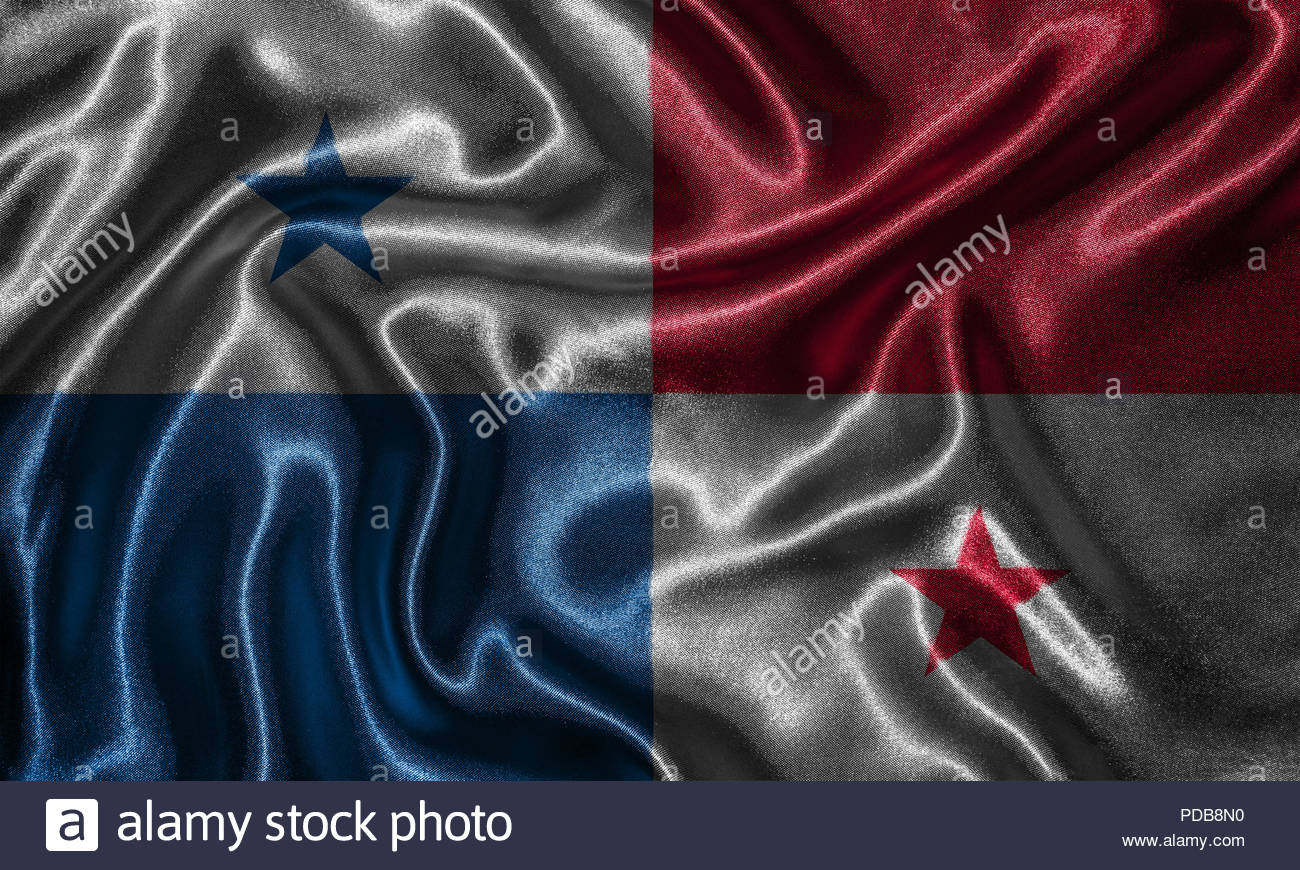 Panama flag   Fabric flag of Panama country Background and 1300x870