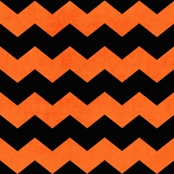 Orange Black Chevron 600x600
