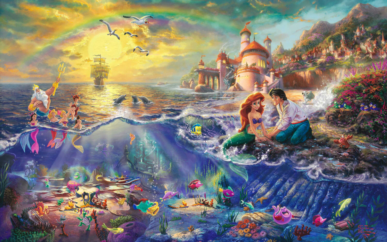 Disney Princess images Thomas Kinkade