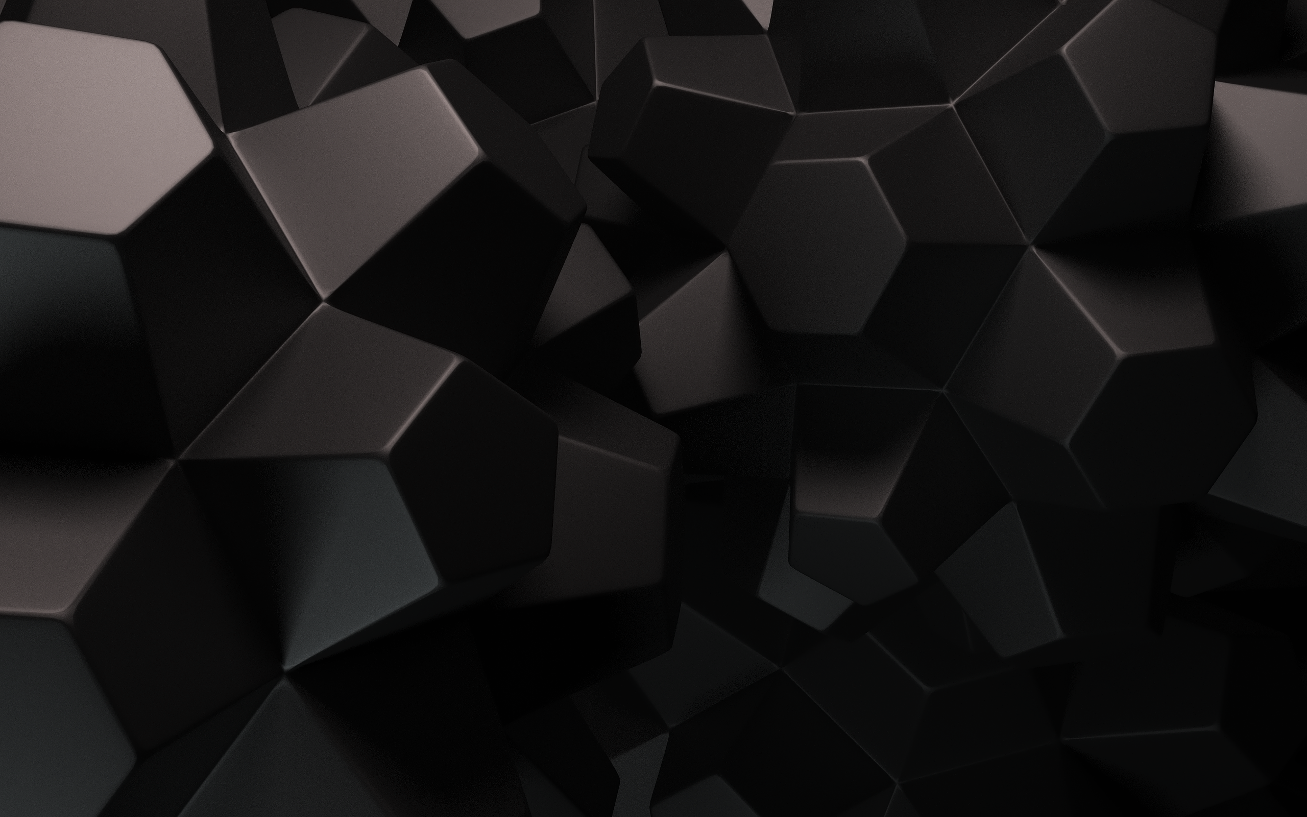 Geometric Wallpaper Black 1 2560x1600