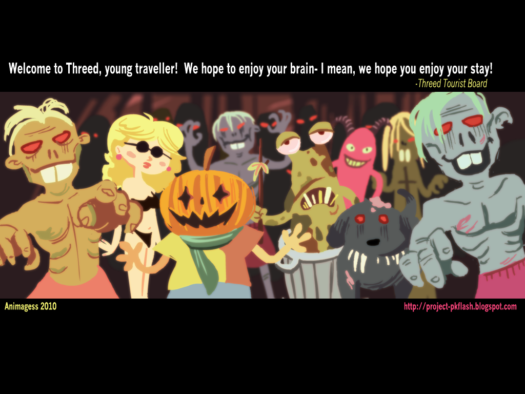 An Animated Earthbound Tribute Welcome to Threed Desktop wallpaper 1024x768