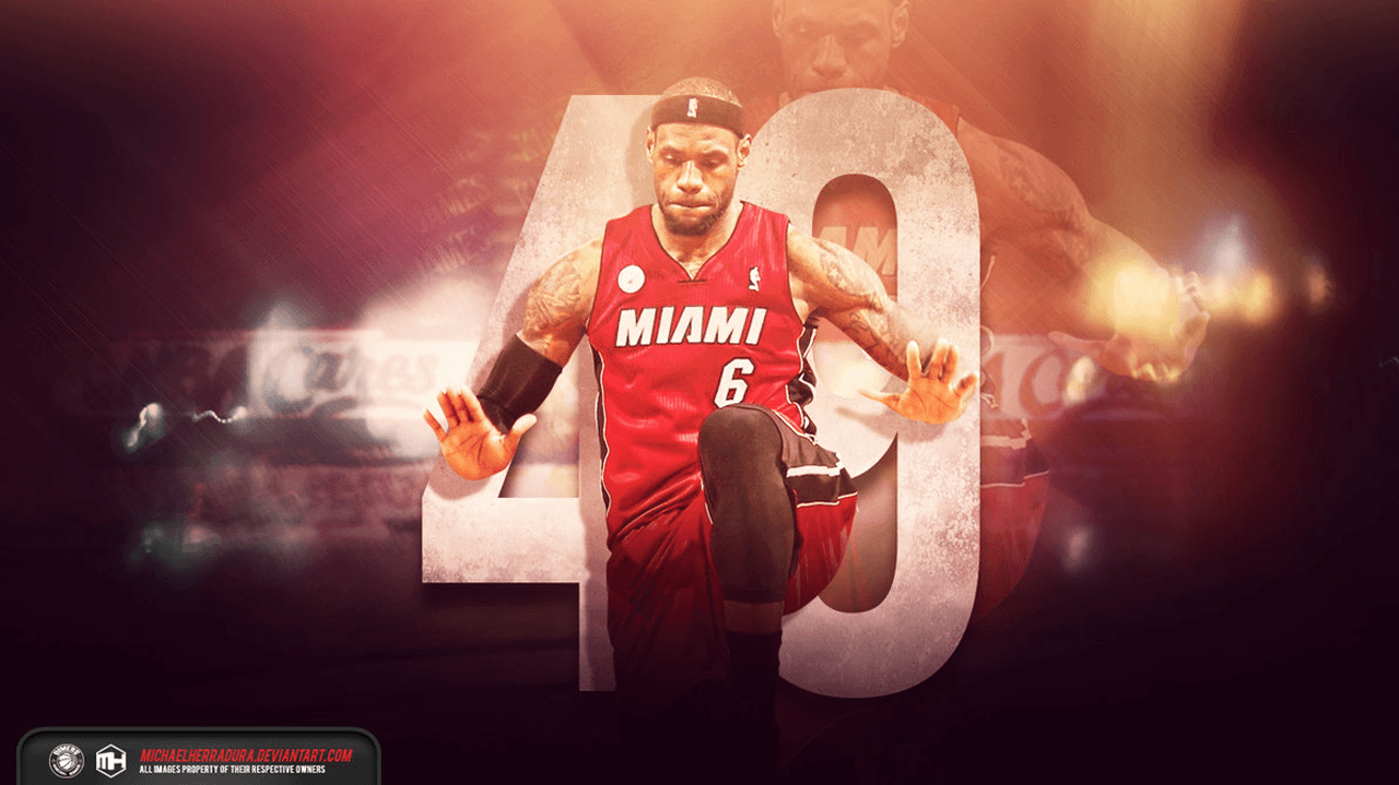 95 Lebron James Miami Heat Wallpaper 2016 On Wallpapersafari