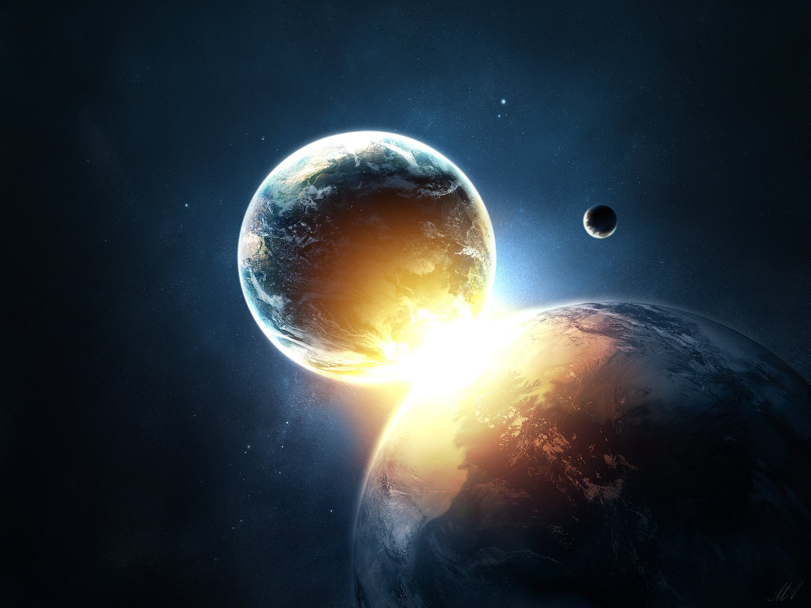 Free Download Planets Collide Wallpapers Hd Wallpapers 1600x1200
