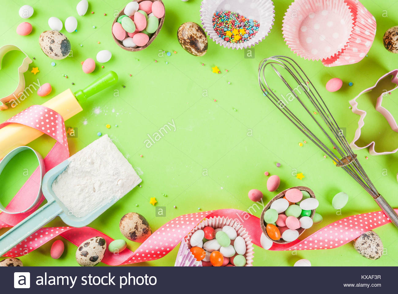 Sweet baking concept for Easter cooking background with baking 1300x960