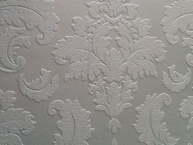 Paintable Damask Wallpaper 178906 Traditional Wallpaper for sale in 640x480
