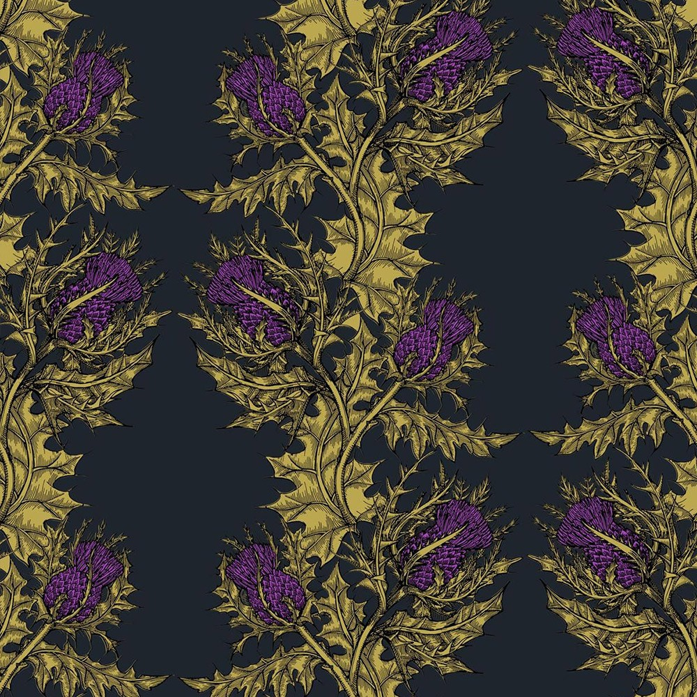Timorous Beasties Grand Thistle Vinyl Wallpaper Occa Home UK 1000x1000