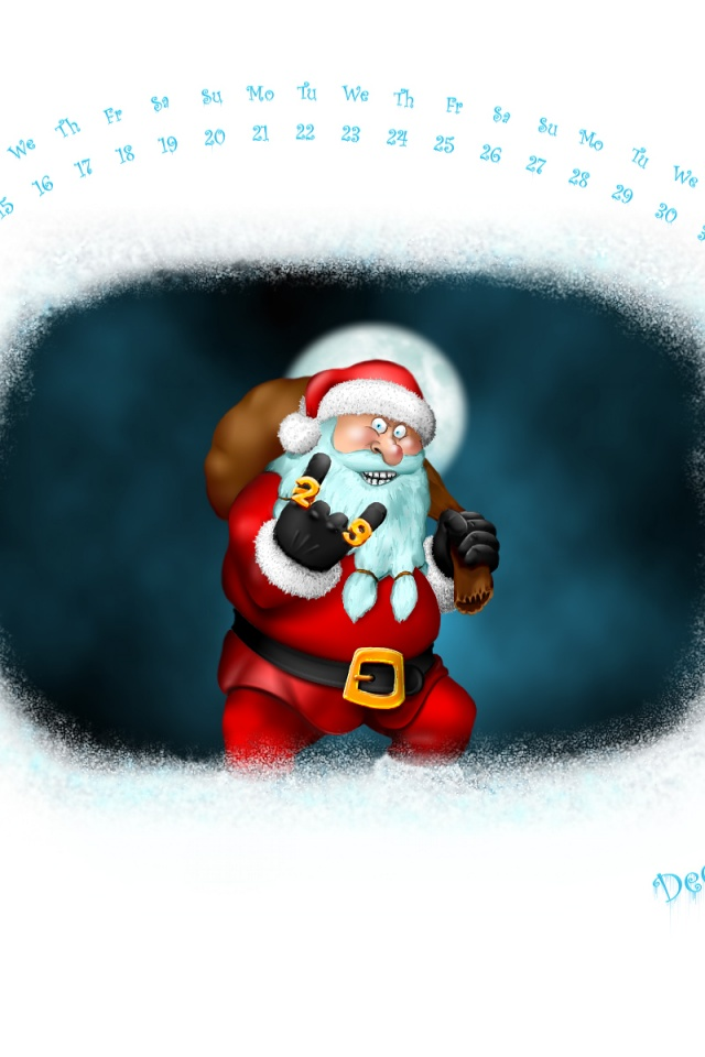 640x960 Crazy Santa Iphone 4 wallpaper 640x960