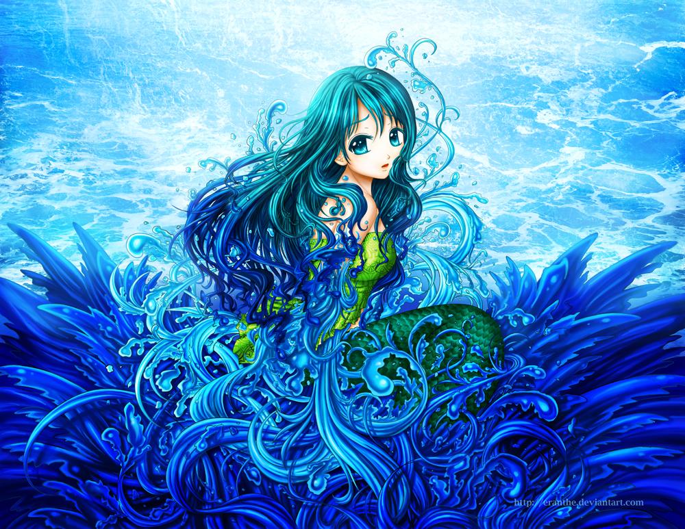 Картинки красивых русалок аниме