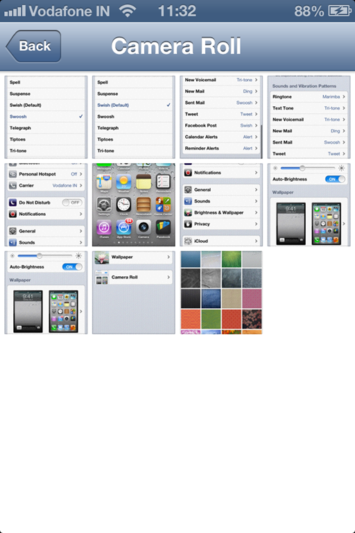 How to change the wallpaper on iPhone 4S 512x768