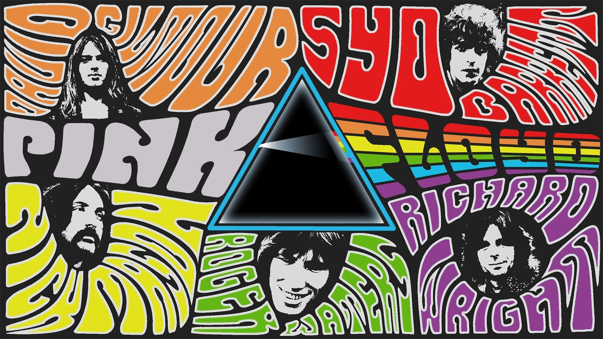 Classic Rock Band Logos Collage Rock band psychedelic rock 1920x1080