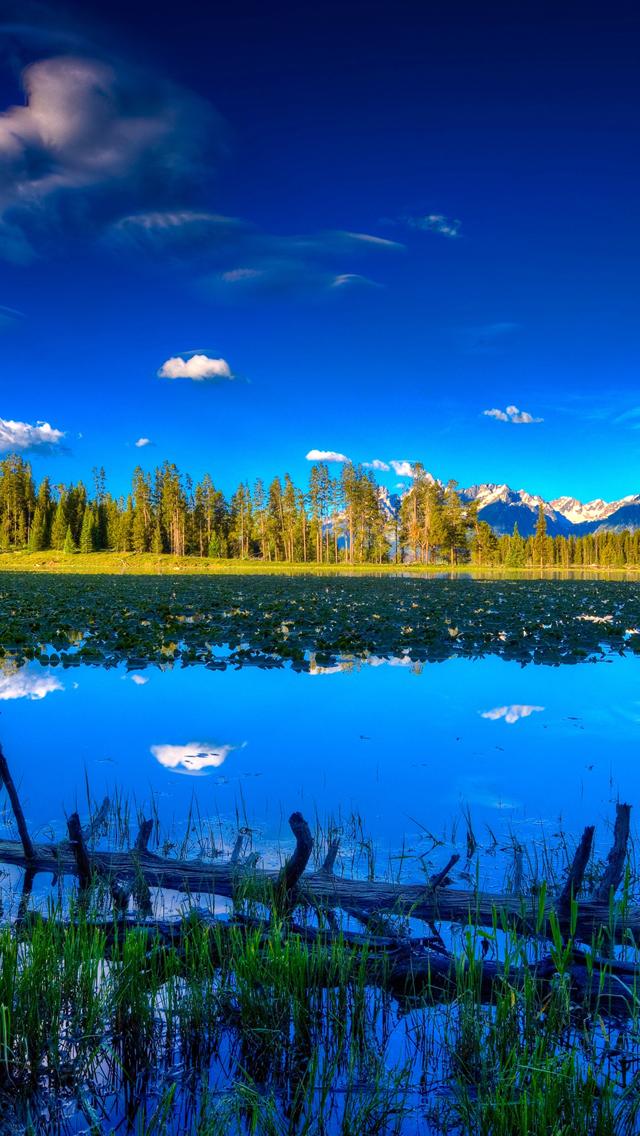 Download Blue Landscape Iphone 5s Wallpaper Download Iphone