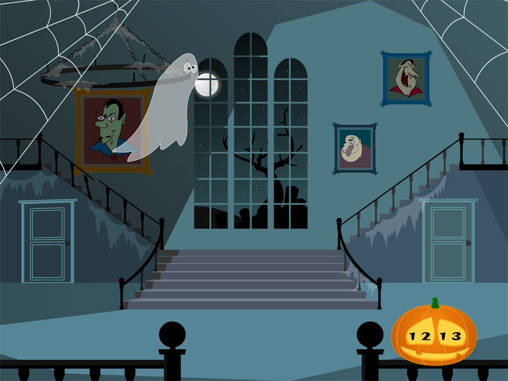 Halloween Clock screensaver enjoy the halloween atmosphere in merry 1024x768