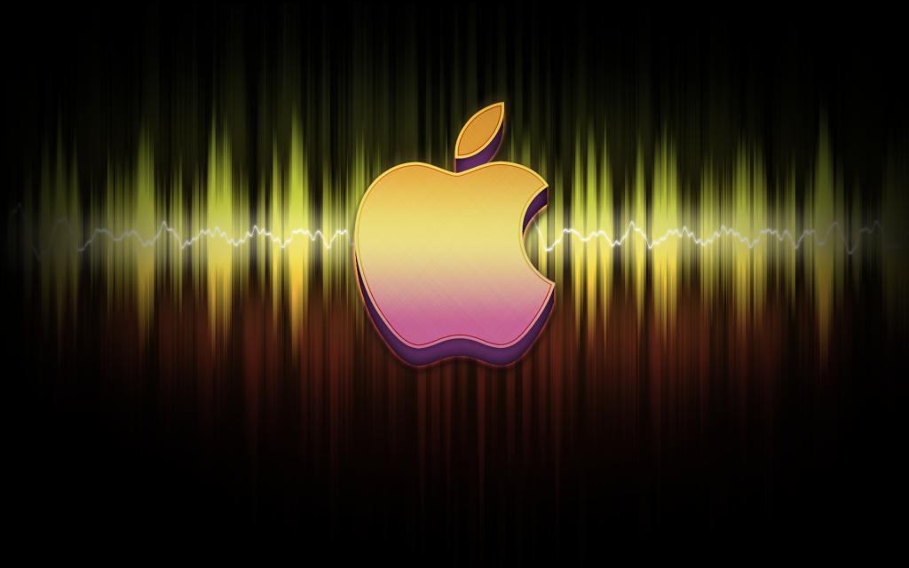 Apple Sound Waves Background   Apple Sound Waves Wallpaper for Desktop 1024x640