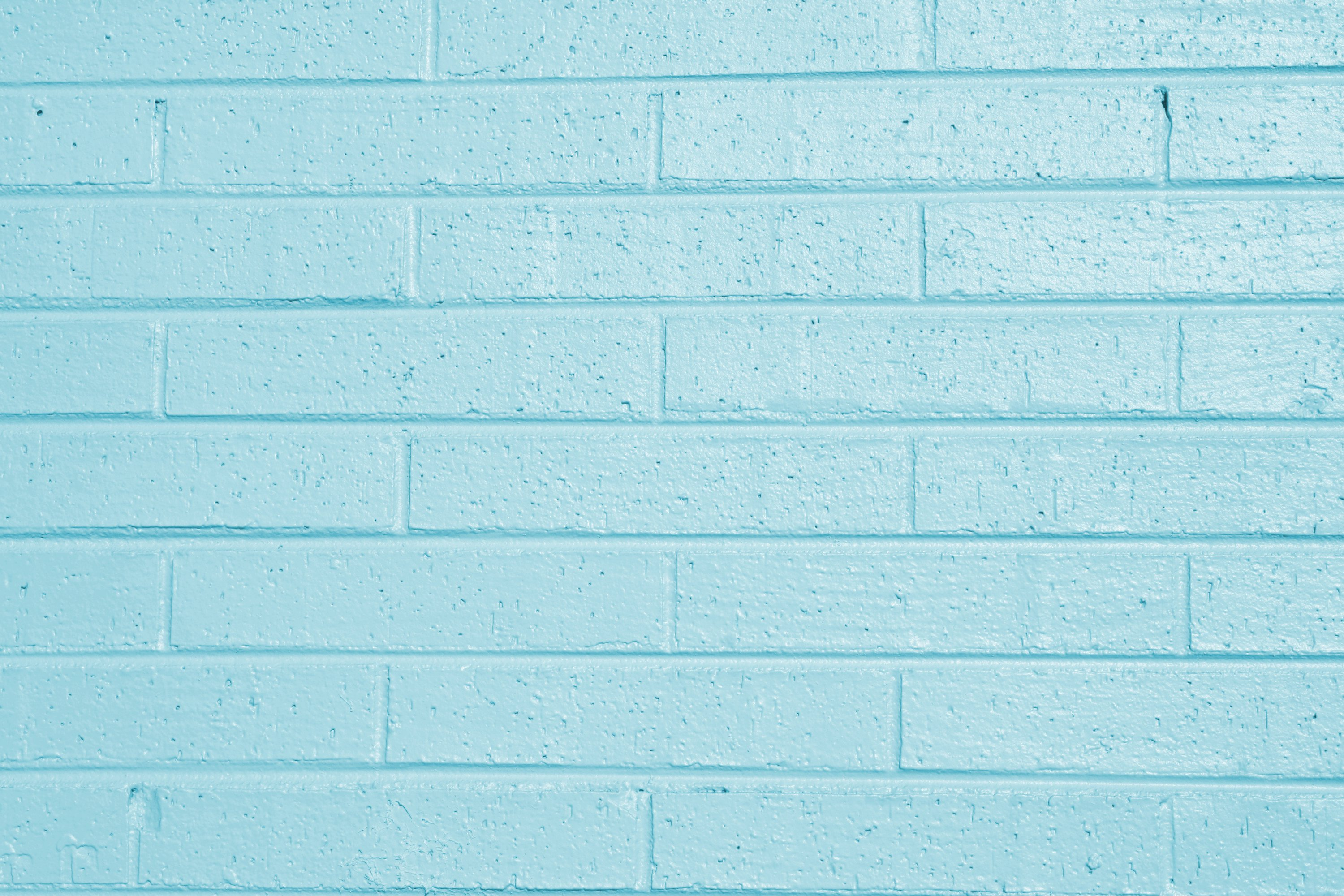 Teal Blue Painted Brick Wall Texture   High Resolution Photo 3000x2000