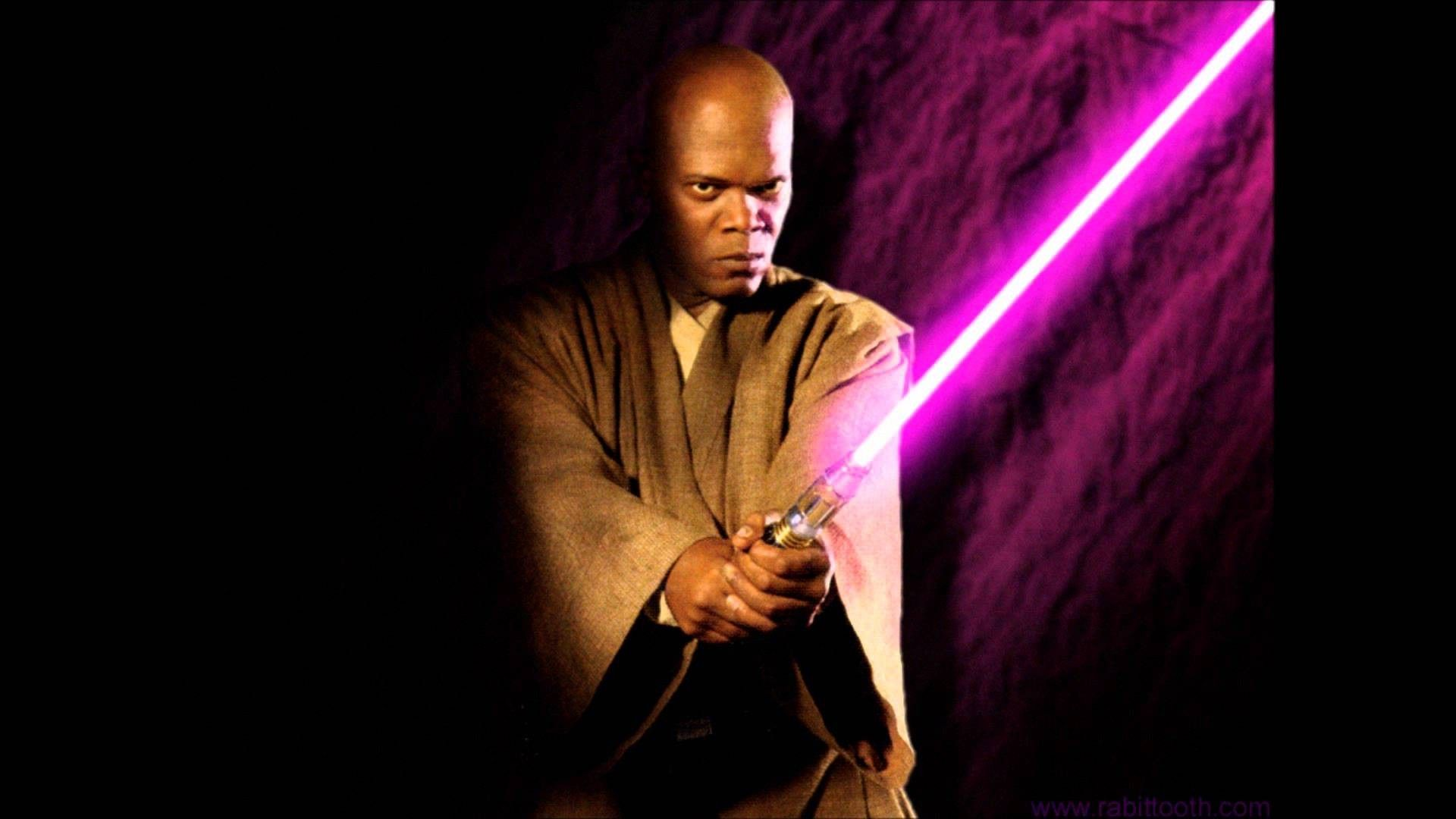 Mace Windu wallpaper mace Mace windu Star wars vii Purple 1920x1080