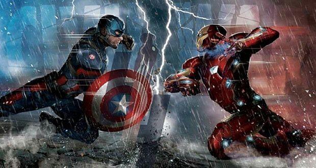 Captain America 3 Civil War Cap vs Iron Man artwork Captain Americas 620x330