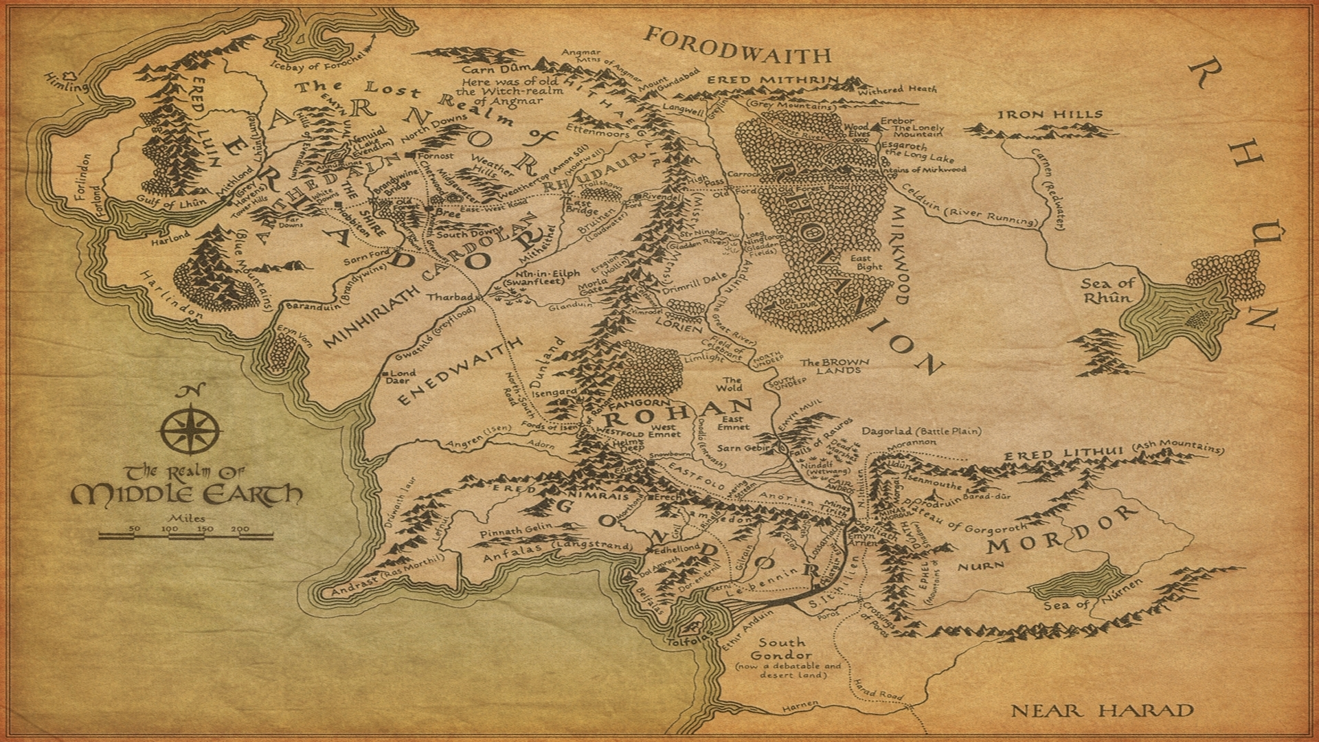 lord of the rings maps middleearth 1920x1080 wallpaper Best Wallpapers 1920x1080