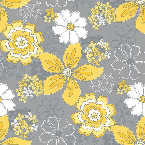 Wallpaper Living Room Grey And Yellow