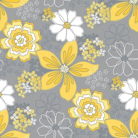 Yellow Grey Bathroom Decor