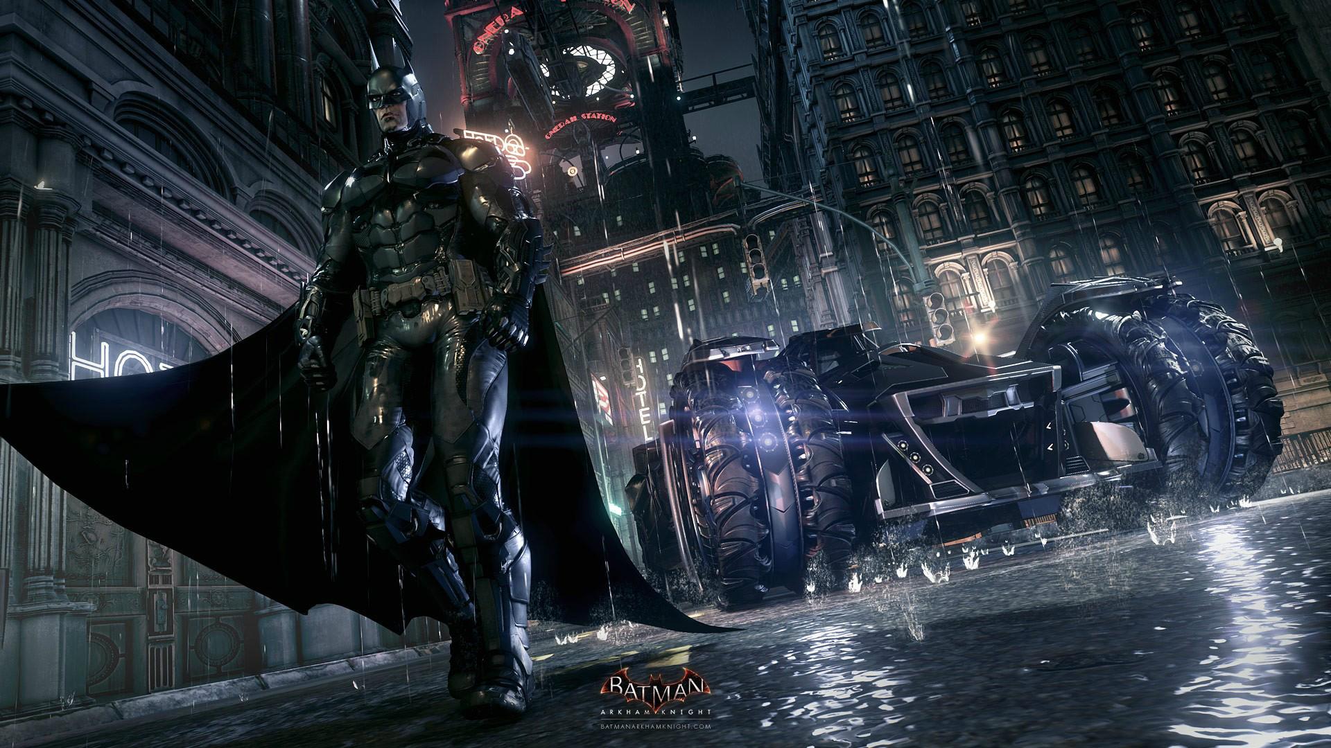 new batmobile batman arkham knight game hd 1920x1080 1080p wallpaper 1920x1080