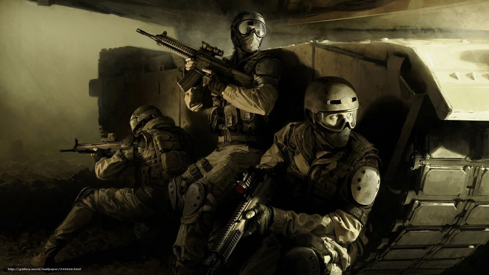 Download wallpaper Special Forces weapon machines tank desktop 1600x900