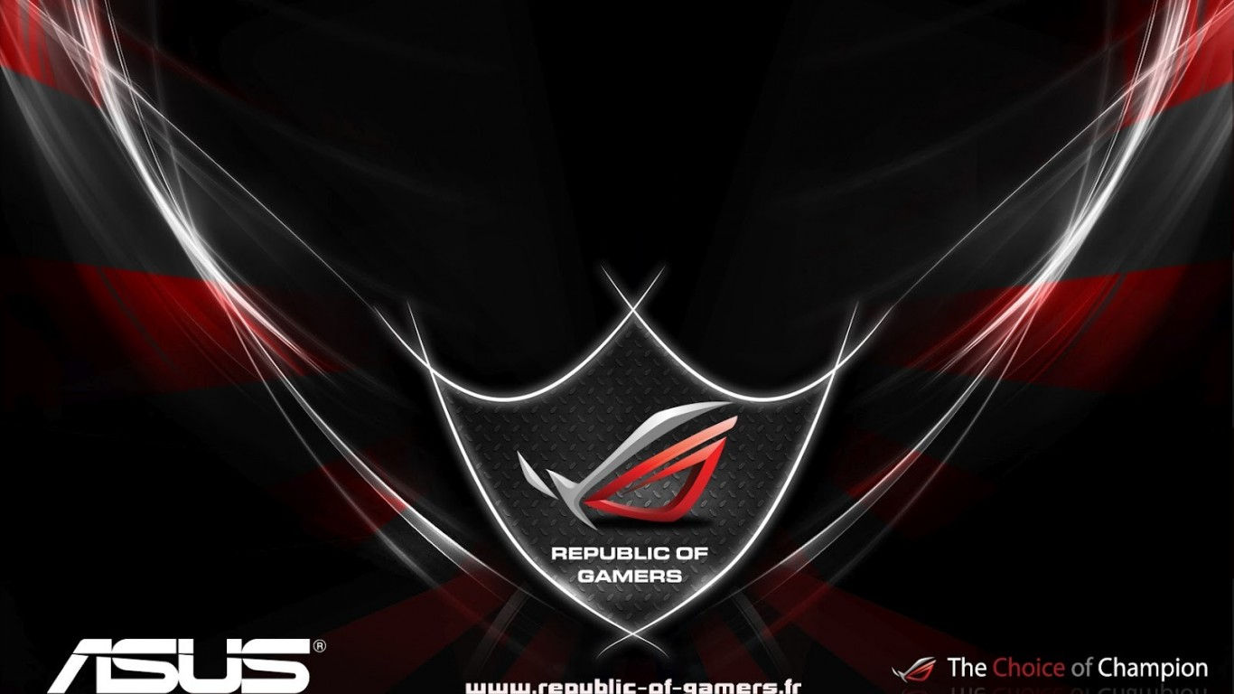 Asus rog republic of gamers Wallpaper Picture 1366x768 HD Wallpaper 1366x768
