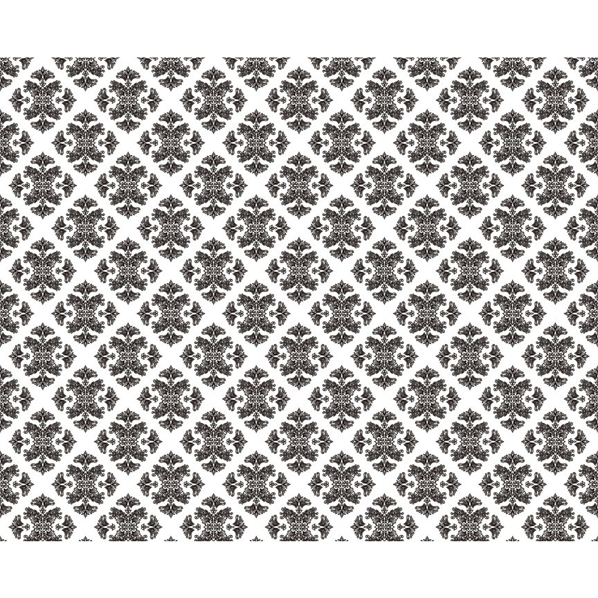 black and white Retro   Classic Wallpaper Style Fully Removable Pre 864x864