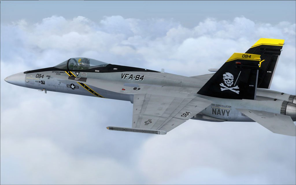 download US Navy FA 18C Jolly Rogers CAG in flight [1024x640 1024x640