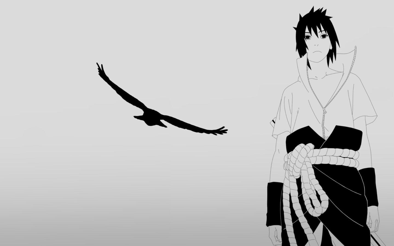 Uchiha Sasuke Naruto Shippuden Anime HD Wallpaper Desktop Background 1440x900