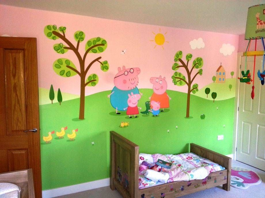 Peppa Pig themed room painted in one week This wall features 920x690