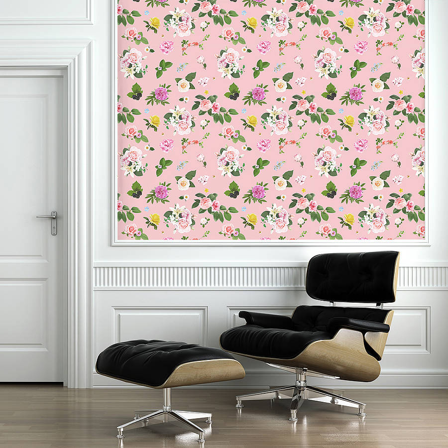 Free Download Self Adhesive Pink Floral Pattern Wallpaper By