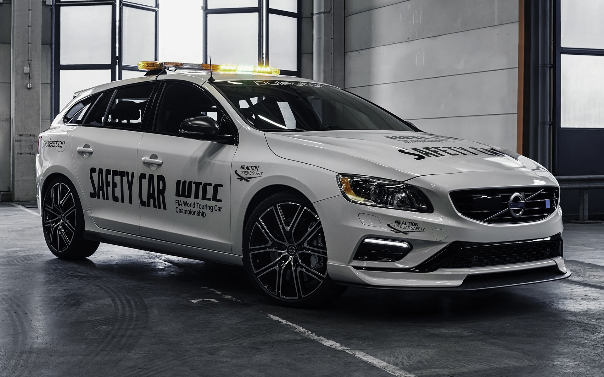 2017 Volvo V60 Polestar WTCC Safety Car   Wallpapers and HD Images 1920x1200