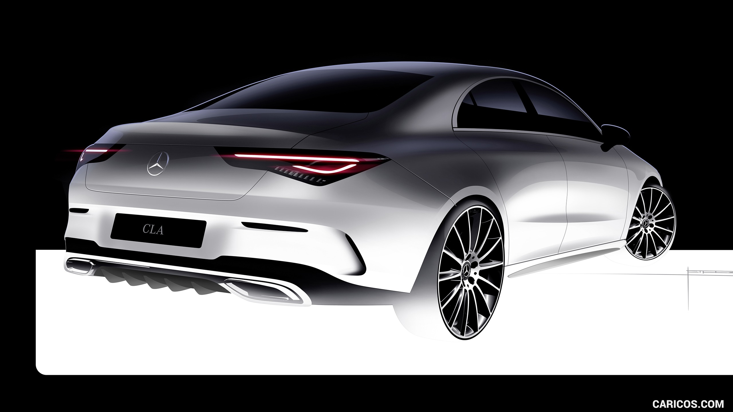 2020 Mercedes Benz CLA 250 Coupe   Design Sketch HD Wallpaper 49 2560x1440