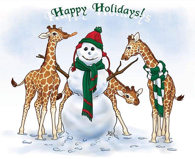 Christmas Giraffe Wallpaper - WallpaperSafari