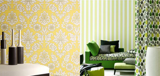 Exceptional Colors and patterns Boussac Wallpaper Collection 2011 560x266