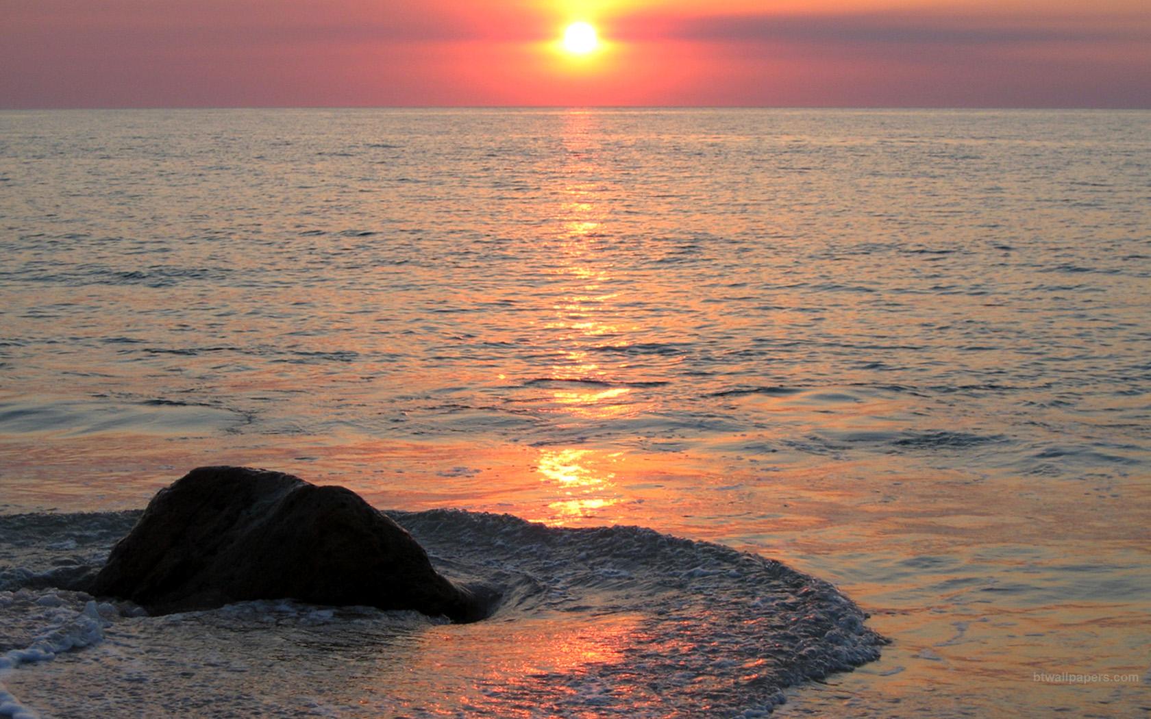 Beach Pink Sunset wallpaper   ForWallpapercom 1680x1050