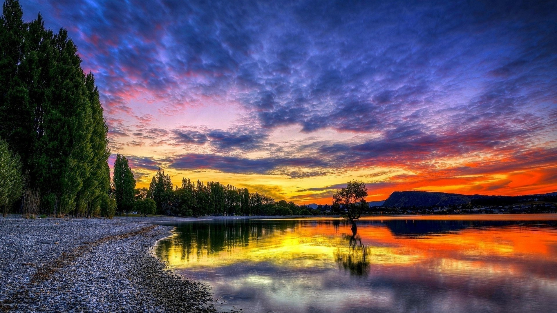 Twilight landscape beautiful sunset coast desktop wallpaper Gallery 1920x1080