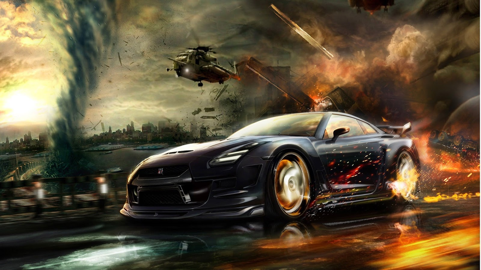 Cool Car Games Wallpaper 1600x900