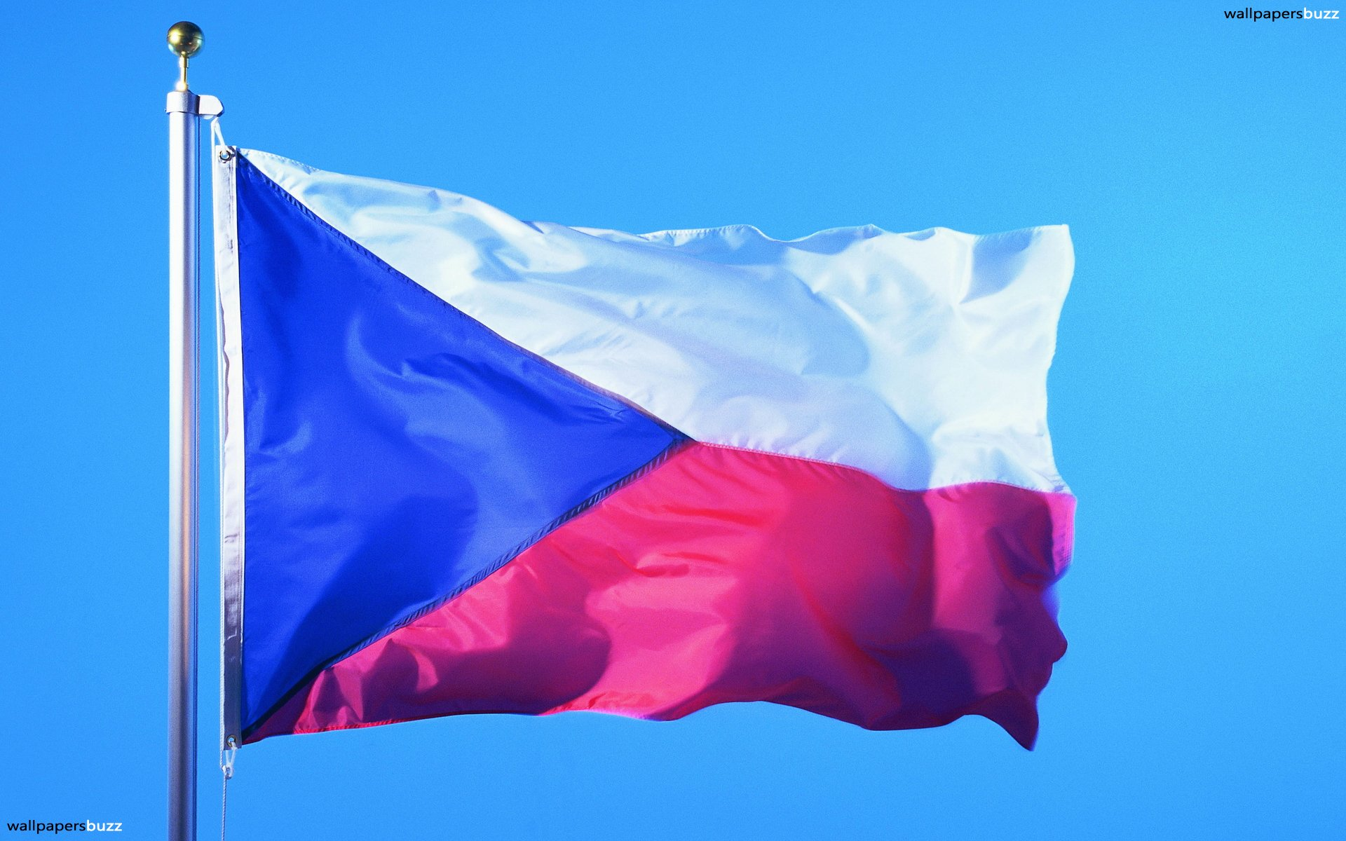 The flag of Czech Republic HD Wallpaper 1920x1200