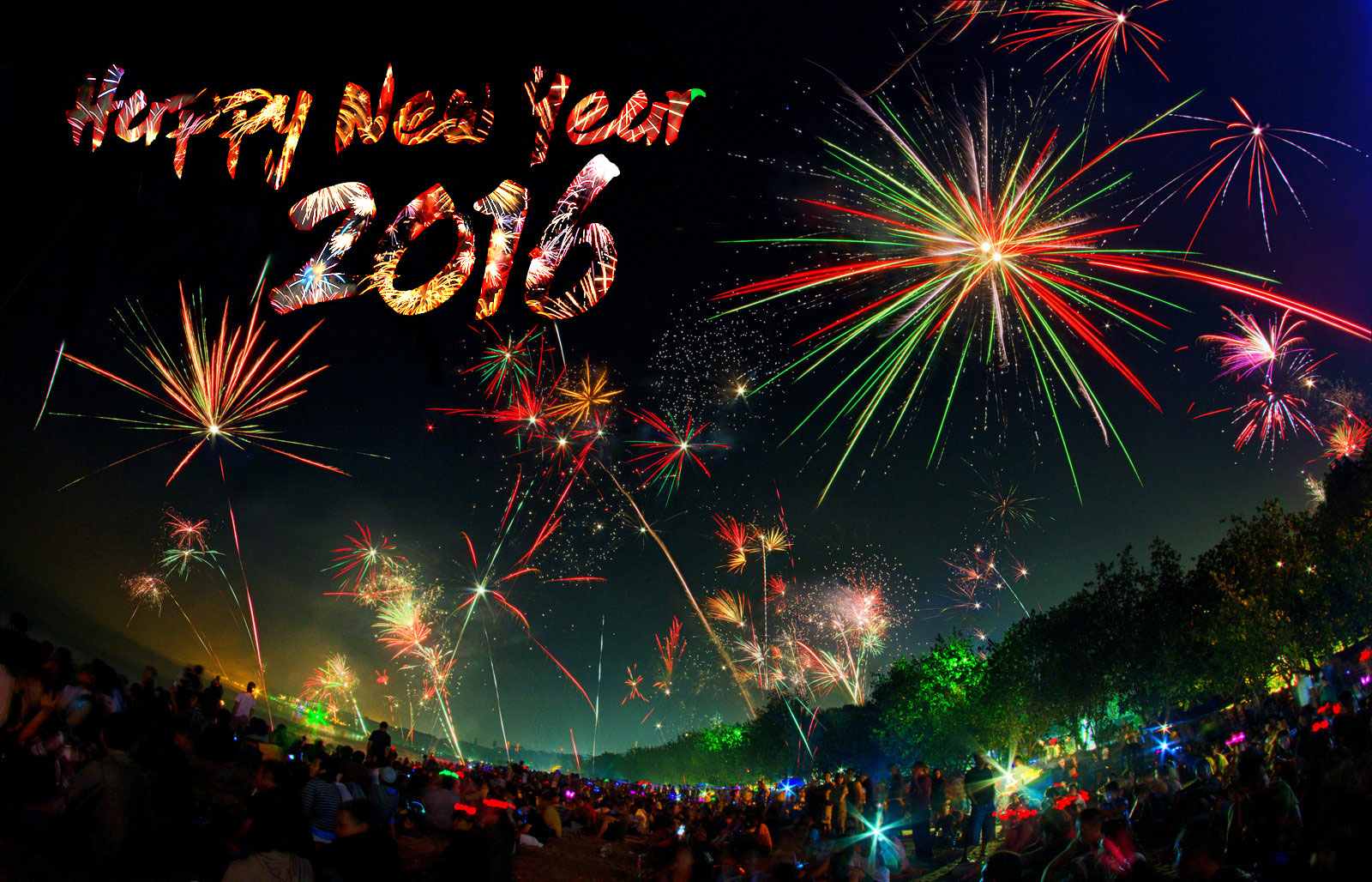 Happy New Year 2016 Wallpapers HD Images Facebook Cover 1600x1028